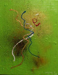 Aborigen III - 41x33cm - Acrílico sobre lienzo
