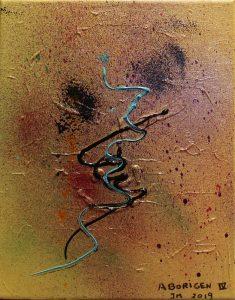 Aborigen IV - 30x24cm - Acrílico sobre lienzo