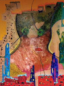 Dona de ciutat - 116x89cm - Óleo sobre lienzo