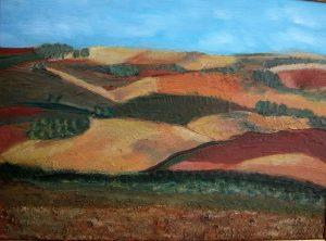 Tierras de La Mancha- 48x62cm - Técnica mixta sobre lienzo