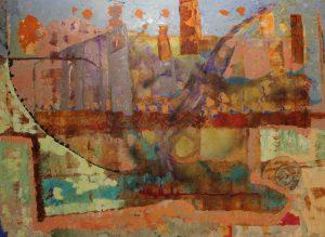 Ciutat Dormida - 97x130cm - Técnica mixta sobre lienzo