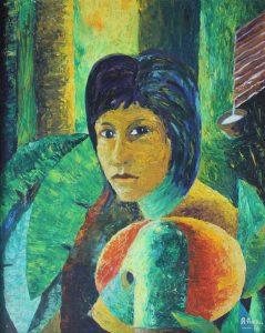 Retrato Rosa María del Siringal - 78x62cm - Acrílico sobre lienzo