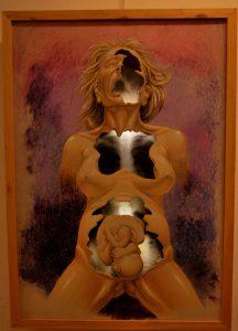 Así nacemos - 110x75cm - Pastel Oil sobre cartón