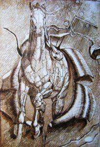 Caballo de hierro - 30x21cm - Aguafuerte
