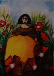 Frida3 - 28x20cm - Acuarela sobre Papel
