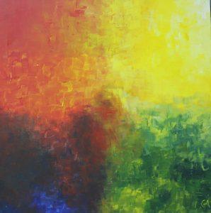 Il quatre colori - 60x60cm - Acrílico sobre lienzo