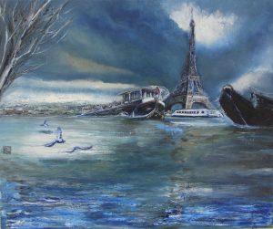 Otoño en París (Serie Sequana) - 46x55cm - Óleo sobre lienzo