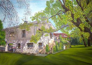 Santa Ana Home - 42x30cm - Acuarela y tinta china