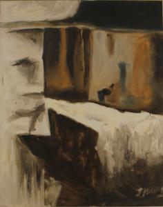 Sin título - 100x80cm - Técnica mixta sobre lienzo (Serie: Mil lluvias sobre el Marqués de Barberá)