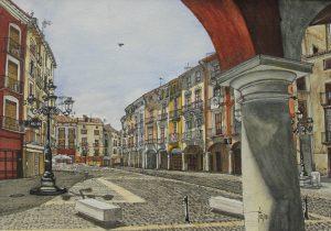 Plaza del Mercado, Xàtiva - 21x30cm - Acuarela y tinta china (2018)