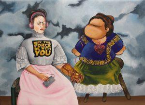 Multiverso Mexicano (Obra conjunta de Uriel Cruz Roque & Ángela Rocío) - 60x80cm - Acrílico sobre Lienzo