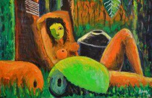 Desnudo Amazónico - 60x90 - Acrílico sobre Tela