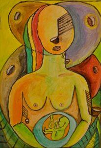 Cuabolaleimadi Kuadi (Madre Siringa) - 70x50 - Acrílico sobre Papel