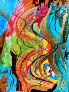 L'orella - 22x28 - Tinta china y Rotuladores sobre Cartulina