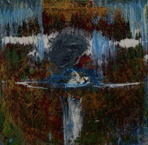 El ángel cósmico - 30x30 cm - Acrílico sobre lienzo