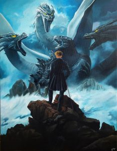 El rey de los monstruos (2020) - 70x90cm