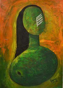 Kuña (mujer) (2015) - 70x50cm - Acrilico sobre papel