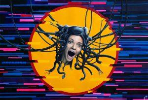 Medusa (2020) - 69x99cm - Acrilico sobre papel