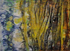 Mundos Paralelos I - 18x24cm - Acrílico sobre lienzo